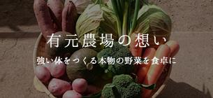 有元農場の想い 強い体をつくる本物の野菜を食卓に