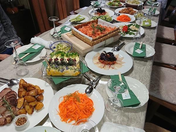 東京『 田端 様 お宅 』にて有元農場の野菜と素晴らしいお料理